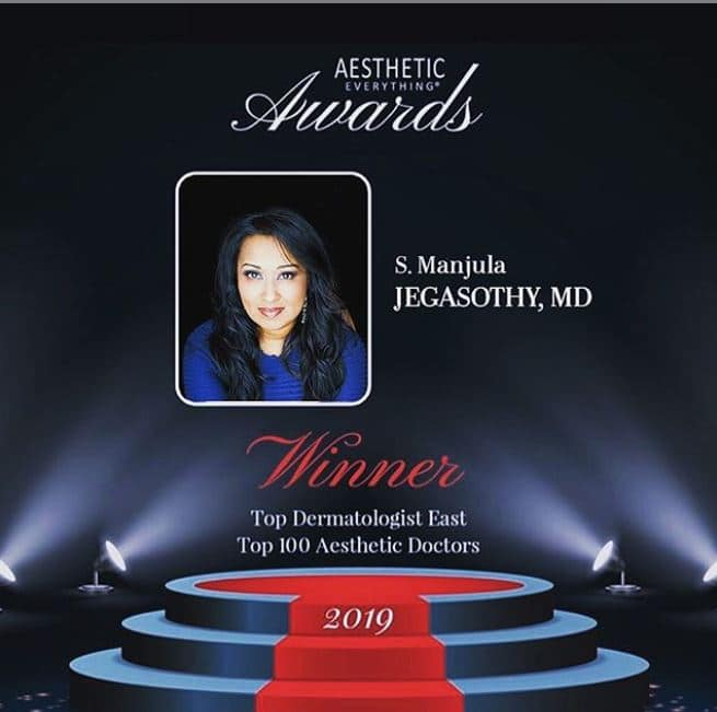Dr. J named Aesthetic Everything Awards 2019 Top Dermatologist East